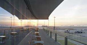 Airside Terrace At Dawn